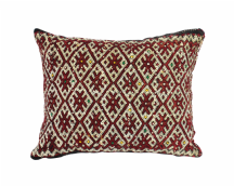 "Moroccan Cushion Vintage Kilim Stuffed  Wool  45 cm x 35 cm / 18"" x 14"" (VC311)"